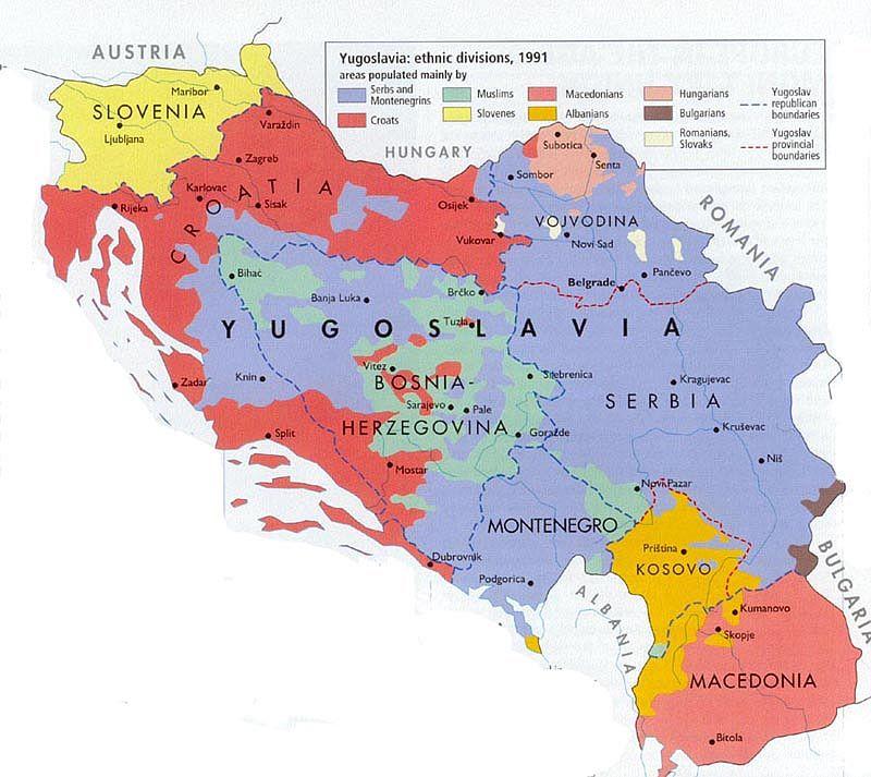 Югославия в таблицах