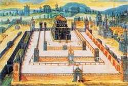 Иерусалимский Храм (Соломонов) - книжная миниатуюра XVIII в.