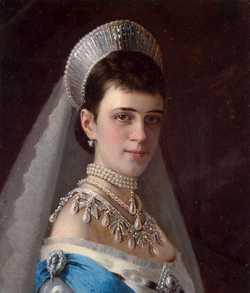 Императрица Мария Федоровна, супруга императора Александра III, 1880-е (портрет Н. Крамского)