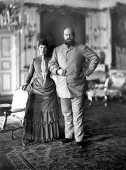 Император Александр III с супругой Марией Федоровной