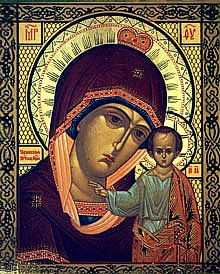 Табынская икона Божией Матери.  Список кон. XX-нач. XXI вв.