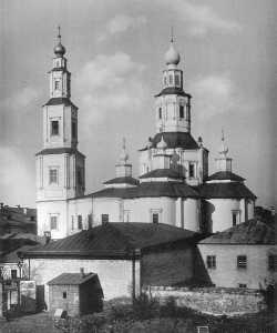 Московский храм Воздвижения Честного Креста Господня, что на Воздвиженке, в бывшем Крестовоздвиженском монастыре