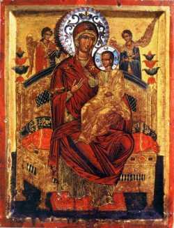 Ватопедский образ Богородицы Всецарицы