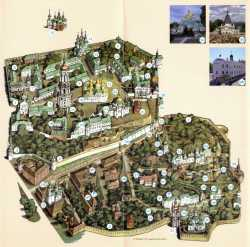 Карта-схема Киево-Печерской лавры