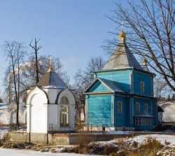 Петропавловский храм и Взысканская часовня Николо-Угрешского монастыря. Фото Владислава (strusto) 8 января 2008 г.