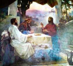 Явление Христа ученикам в селении Эммаус, Трапезная церковь, Киево-Печерская лавра