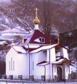 Мироносицкая церковь Аланского Успенского монастыря. Фото Вячеслава Иванова, декабрь 2008 г.