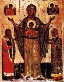Мирожская икона Божией Матери.  Список XVII в.