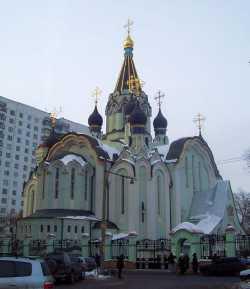 Московский Воскресенский храм в Сокольниках, 2006 г. Фотография с сайта sobory.ru