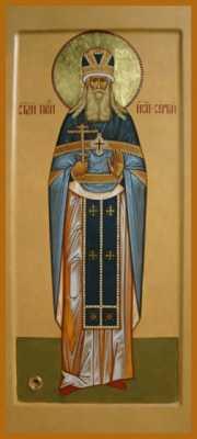 Присп. Сергий (Сребрянский), икона нач. XXI века