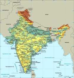 """Карта Индии, с сайта онлайн-энциклопедии """"Кругосвет"""""""