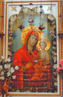 Печорский образ Божией Матери Скоропослушницы.  Фото не позднее 2008 г.