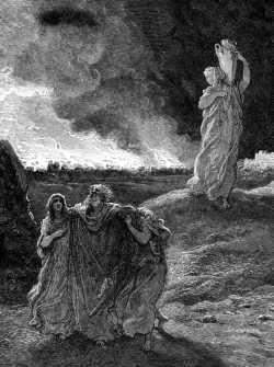 Гюстав Доре. Бегство Лота, 1866 г.