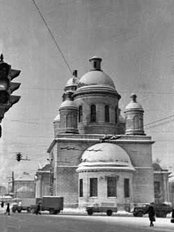 Церковь Сергия Радонежского, что в Рогожской слободе. Вид с востока. Ноябрь 1972 года. Фото Александра Чеботаря