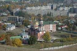 Саратовский Алексеевский монастырь. Панорама, 2008 год.