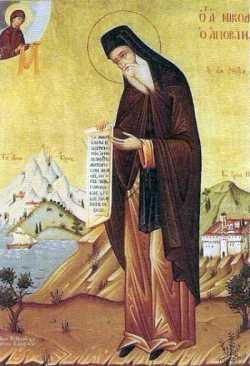 Прп. Никодим Святогорец. Греческая икона