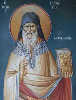 Преподобный Порфирий Кавсокаливит. Фреска