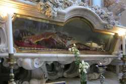 Рака с мощами свт. Иоанна Милостивого, патр. Александрийского, в католическом храме San Giovanni in Bragora (Венеция)