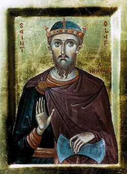 Мч. Олаф Святой, король Норвежский. Икона