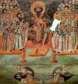 Осуждение ереси Нестория на III Вселенском Соборе. Фреска
