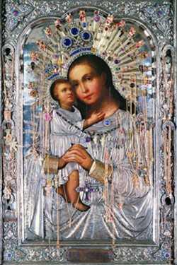 Икона Божией Матери «Взыскание Погибших» из храма Воскресения Словущего на Успенском вражке в Москве