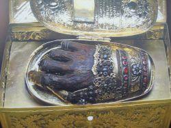 Десница свт. Иоанна Златоуста. Афонский Филофеевский монастырь