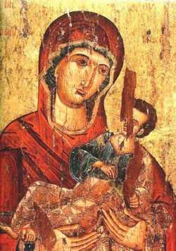 Икона Богородицы Пантанасса. XVI в. Монастырь Симона Петра. Афон