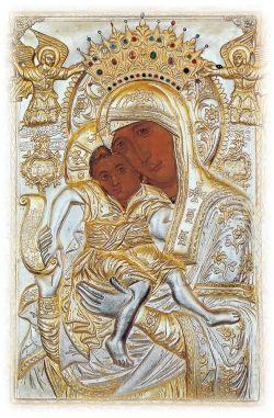Икона Божией Матери «Достойно есть». Ок. Х в. (?) Храм Успения Богородицы в Протате, Карея, Афон