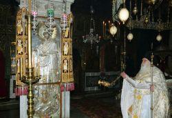 """Икона """"Герондисса"""" в монастыре Пантократор на Афоне. Фото"""
